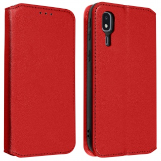 Kunstleder Cover Classic Edition Samsung Galaxy A2 Core - Rot