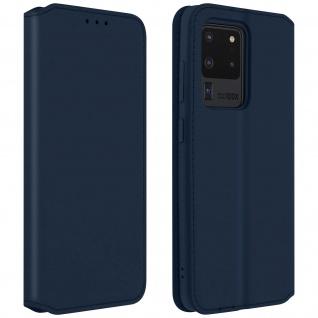 Kunstleder Cover Classic Edition Samsung Galaxy S20 Ultra - Blau