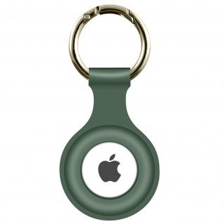 AirTag Soft Touch Schlüsselanhänger aus Silikon, mit Metallring ? Khakigrün