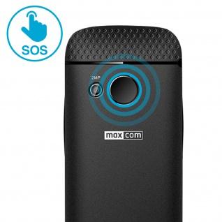 Seniorentelefon 800mAh Akku, 4.5Std. Akkulaufzeit MM721 Maxcom - Schwarz - Vorschau 5