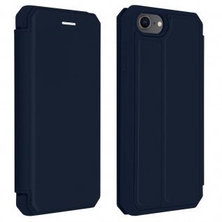 Apple iPhone SE 2020 Kunstleder Klapphülle mit Kartenfach â€? Dunkelblau