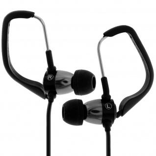 Forever - Sport in-ear Kopfhörer mit Ohrbügeln Freisprechanlage - Schwarz