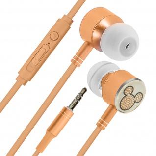 Disney in-ear Kopfhörer mit Fernbedienung, Mickey Maus Design - Gold/ Schwarz