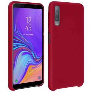 Samsung Galaxy A7 2018 Soft Touch kratzfeste Silikonhülle, soft case ? Rot