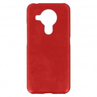 Nokia 5.4 / 3.4 Kunstlederhülle, Handyhülle mit Silikon Bumper - Rot