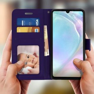 Flip Stand Cover Brieftasche & Standfunktion für Huawei P30 - Violett - Vorschau 3