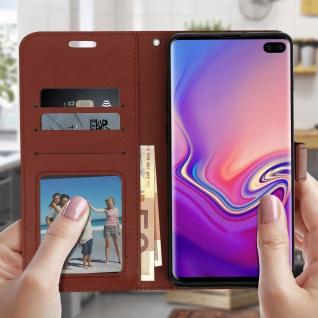 Flip Stand Cover Brieftasche & Standfunktion für Samsung Galaxy S10 Plus - Braun - Vorschau 3