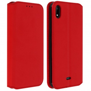 Kunstleder Cover Classic Edition Wiko Y50 - Rot
