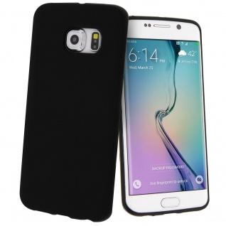 Unverbrüchliche schwarze Schutzhülle aus Silikon für Samsung Galaxy S6 Edge