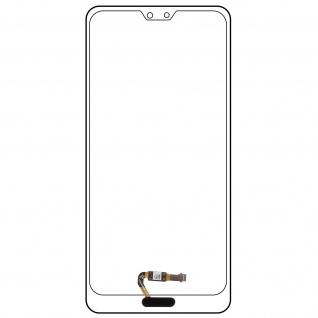 Ersatzteil Haupttaste mit Flexkabel für Huawei P20 Pro, Huawei P20 Schwarz