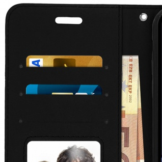 Flip Stand Cover Brieftasche & Standfunktion Apple iPhone XR - Schwarz - Vorschau 4