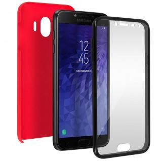 Schutzhülle für Samsung Galaxy J4, Vorder- + Rückseite ? Rot
