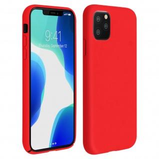 Halbsteife Silikon Handyhülle Apple iPhone 11 Pro, Soft Touch - Rot