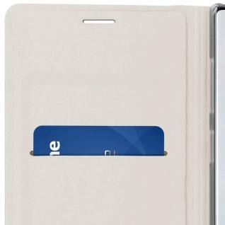Flip Book Cover, Klappetui aus Kunstleder für Samsung Galaxy Note 10 - Weiß - Vorschau 5