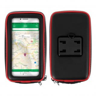 Motorrad Halterung+Wasserdichte Schutzhülle für bis zu 5, 5'' Smartphones?Schwarz