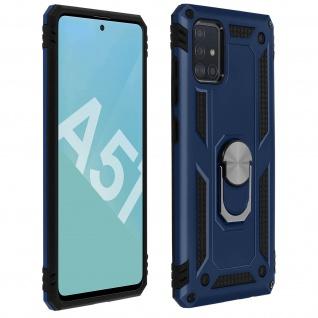 Hybrid Handyhülle mit Ring Halterung für Samsung Galaxy A51 ? Dunkelblau
