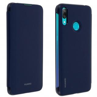 Original Huawei Wallet Cover, Klapphülle für Huawei Y7 2019 â€? Blau