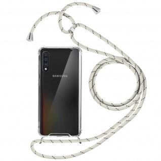 Handykette Handyhülle mit Halsband für Samsung Galaxy A50 - Weiß