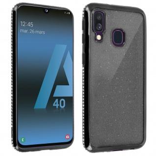 Schutzhülle, Glittery Case für Samsung Galaxy A40, shiny & girly Hülle - Schwarz