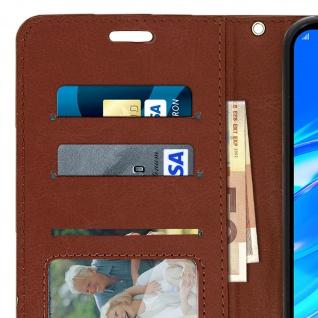 Flip Stand Cover Brieftasche & Standfunktion für Huawei Y7 2019 - Braun - Vorschau 5