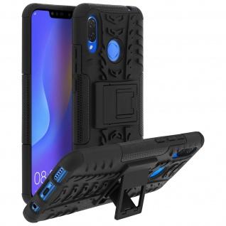 Stoßfeste Schutzhülle + Standfunktion für Huawei P Smart Plus - Schwarz - Vorschau 2