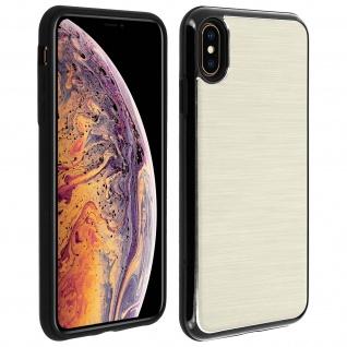 Apple iPhone XS Max Aluminium Handyhülle mit Silikon Bumper - Gold