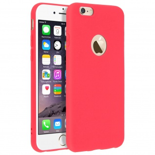 Forcell Apple iPhone 6, iPhone 6S Soft Touch Silikonhülle, soft case - Rot