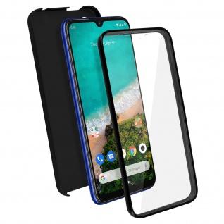 Schutzhülle für Xiaomi Mi A3, Vorder- + Rückseite ? Schwarz
