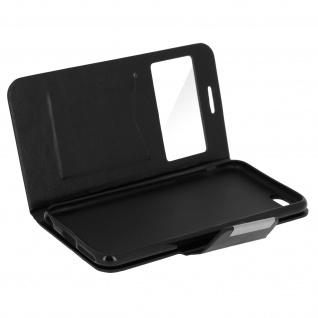 Vintage Flip-Schutzhülle für Apple iPhone 6 Plus, 6s Plus - Schwarz