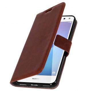 Flip-Cover Stand Case Brieftasche & Standfunktion für Huawei Y6 2017 - Braun