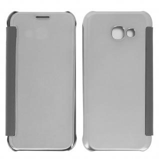 Silberfarbene Clear View Schutzhülle für Samsung Galaxy A3 2017