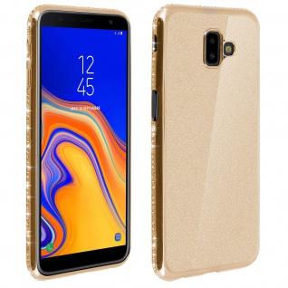 Schutzhülle, Glittery Case für Galaxy J6 Plus, shiny & girly Hülle - Gold