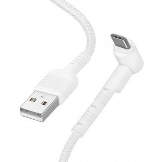 USB / USB-C Kabel mit abgewinkeltem Stecker 1m Inkax CK71 ? Weiß
