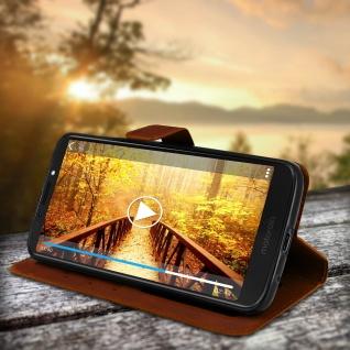 Flip Stand Cover Brieftasche & Standfunktion Motorola Moto G6 Play/E5 - Braun - Vorschau 4