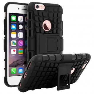 Schutzhülle mit Hartschale + Standfunktion Apple iPhone 6, iPhone 6s ? Schwarz