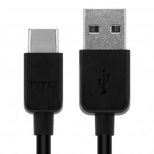 Original HTC USB/ USB-Typ C Ladekabel Schwarz - Kabellänge: 1m