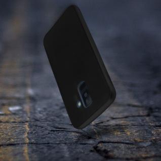 Rundumschutz Galaxy A6 Plus Silikonhülle Schwarz + Displayschutzfolie aus Glas - Vorschau 5