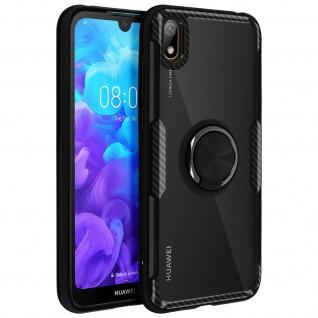Stoßfeste Handyhülle mit Ring Halterung für Huawei Y5 2019 / Honor 8S - Schwarz