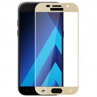 9H Displayschutzfolie aus gehärtetem Glas Samsung Galaxy A5 2017 - Rand Gold