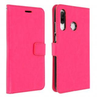 Flip Book Cover, Klappetui aus Kunstleder für Huawei P30 Lite - Rosa