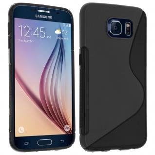 Samsung Galaxy S6 S-Line Schutzhülle aus Silikon - Schwarz - Vorschau 3