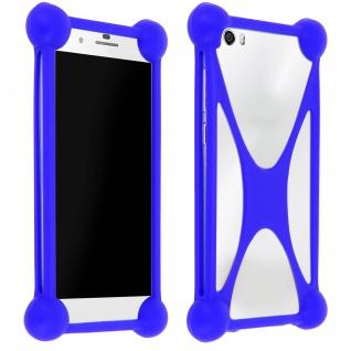 Universal stoßfeste Bumper Schutzhülle Silikon für Smartphones ? Mocca Design