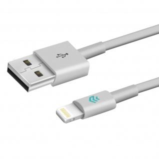 Devia Lightning / USB Ladekabel, Aufladen & Sync., Kabellänge 2m ? Weiß - Vorschau 2