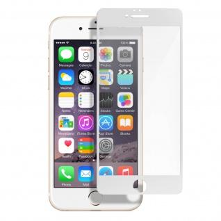 Premium Panzerglas Schutzfolie für Apple iPhone 6 Plus / 6S Plus - Rand Weiß