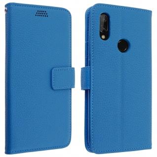 Xiaomi Redmi 7 Flip-Cover mit Kartenfächern & Standfunktion - Blau