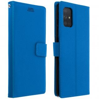 Samsung Galaxy A71 Flip-Cover mit Kartenfächern & Standfunktion â€? Blau