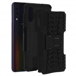 Stoßfeste Schutzhülle + Standfunktion für Samsung Galaxy A70 - Schwarz