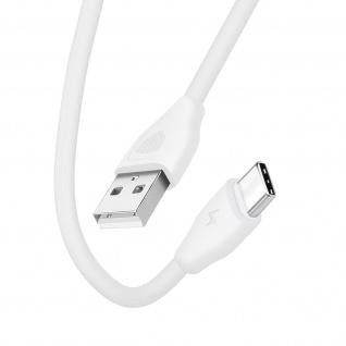 USB / USB-C Kabel 2.1A Lade- und Synchronisationskabel 20cm CK21 Inkax ? Weiß