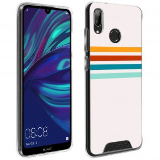 Handyhülle für Huawei Y7 2019, Made in France ? Stripes Design
