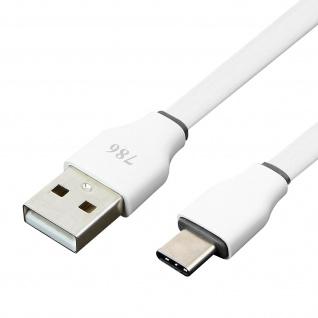 USB auf USB Typ-C Kabel Aufladen & Synchronisieren 3M - Weiß